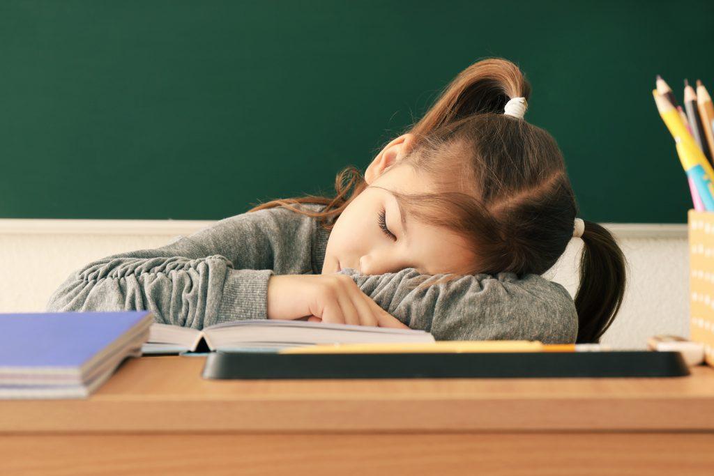 child sleeping enough